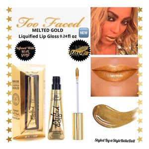 🔥Sale🔥 Too Faced MELTED GOLD Liquified Lip Gloss